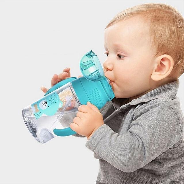 מיני 280 ml ילדים מים בקבוק עם ידית שתיית בקבוק עבור תינוק BPA משלוח Tritan תינוקות של קש בקבוק מים בקבוק Enfant