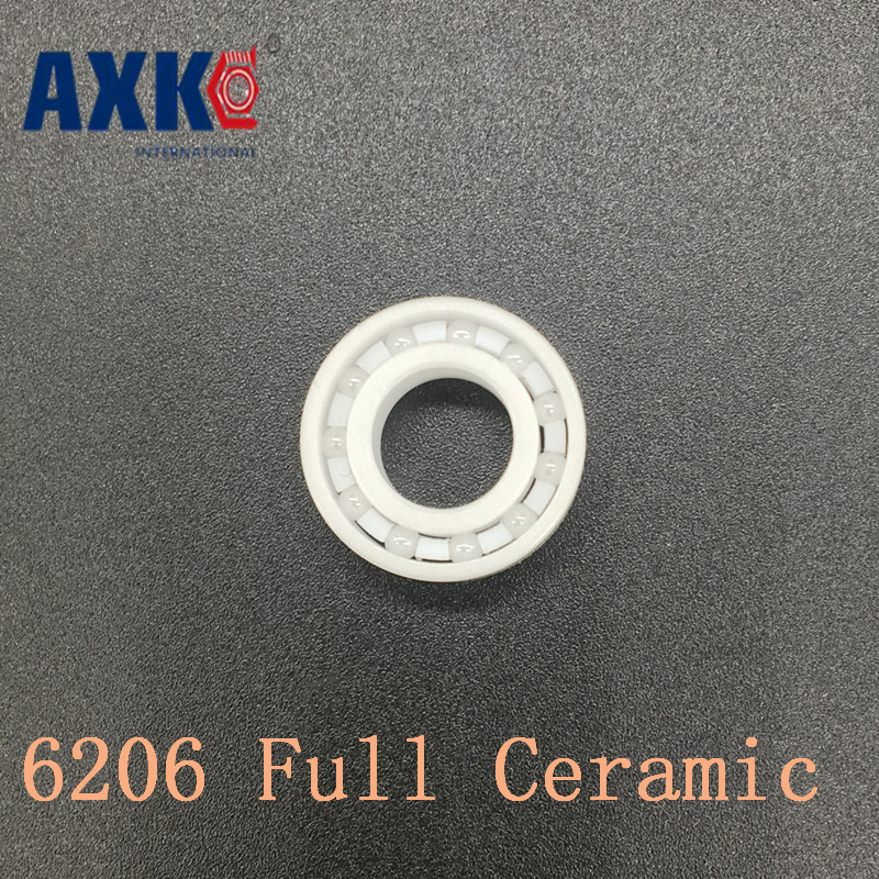 все цены на 2018 Time-limited Promotion Axk 6206 Full Ceramic Bearing ( 1 Pc ) 30*62*16 Mm Zro2 Material 6206ce All Zirconia Ball Bearings
