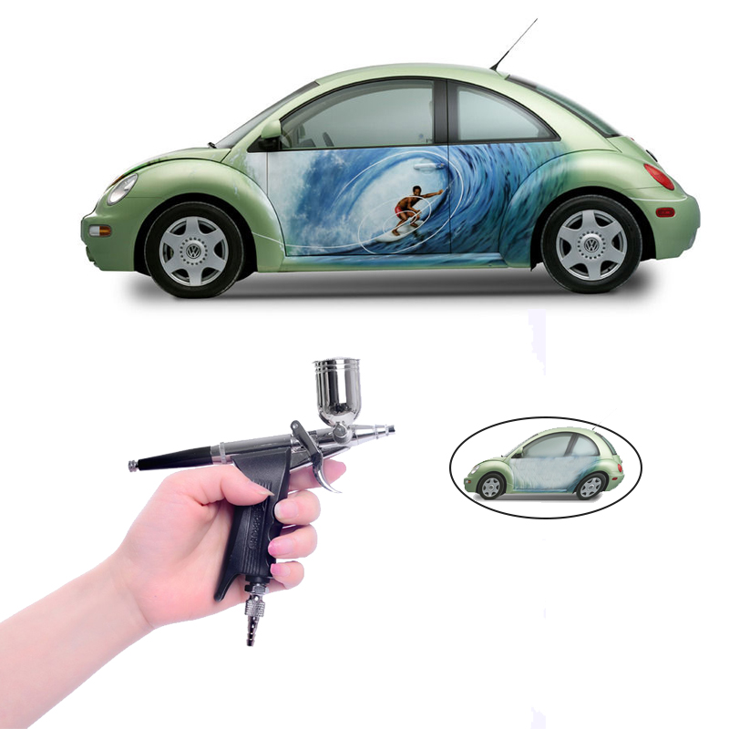 Dual Action Air brush Kit 0.3mm Needle Spray paint Aerograph Air gun for Car Tattoo  Airbrush For Painting cars Bicycles free shipping w71 s siphon spray gun sprayer air brush alloy paint tool professional pneumatic furniture for painting car home