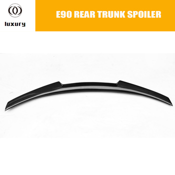 E90 M4 Style Carbon Fiber Rear Trunk Boot Lip Spoiler for BMW E90 320i 325i 330i 335i 320d 325d 330d 335d 2005 - 2011 image