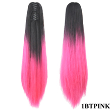 Soowee 24inch Synthetic Hair Clip In Hair Extension Ombre Claw Ponytail My Little Pony Tail Horse Hair on Hairpins Tails of Hair