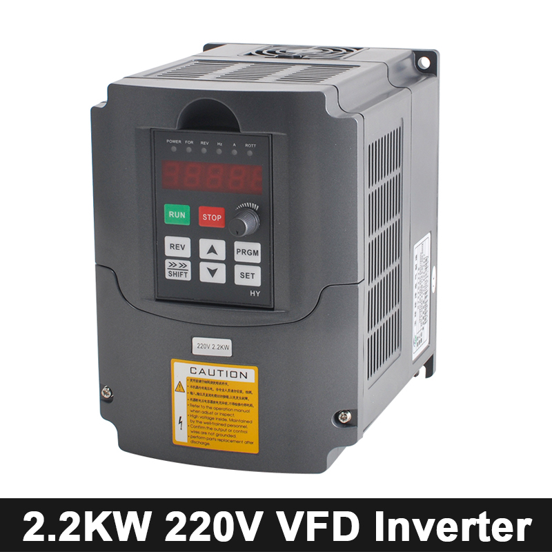 CNC 2.2kw Inverter VFD Variable Frequency Converter 110V/220V/380V AC/DC Inverter Speed Control For Spindle Motor Engraving Tool