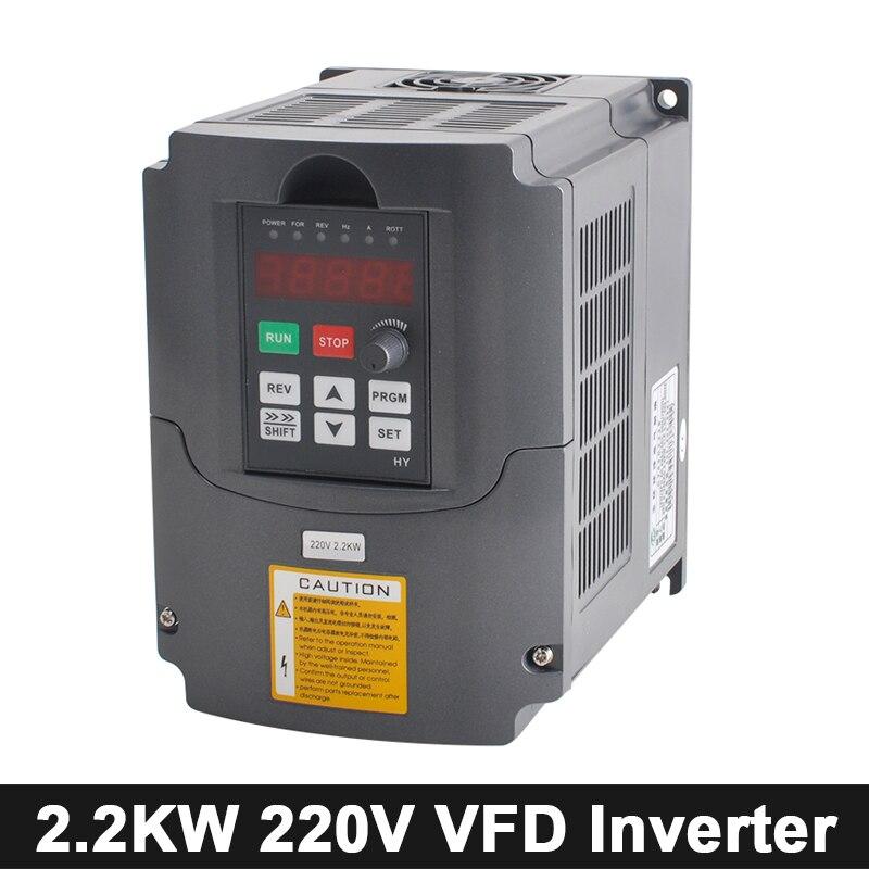 Convertisseur de fréquence Variable de l'inverseur VFD de CNC 2.2kw 110 V/220 V/380 V AC/DC contrôle de vitesse d'inverseur pour l'outil de gravure de moteur d'axe