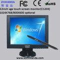 Venda quente de 12 polegada 800*600 vga touch monitor de pc/usb toque monitor/monitor de toque pos de zhixianda