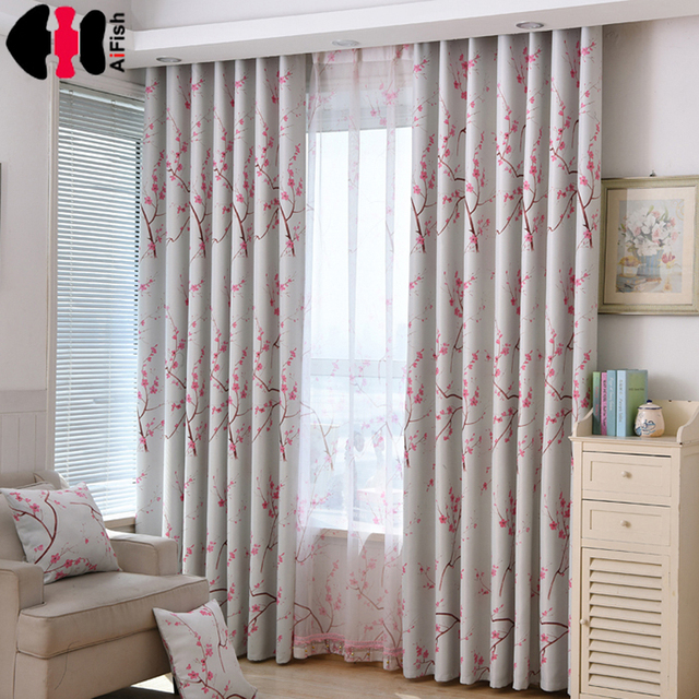 Kitchen Drapes And Bath Showrooms Us 6 0 20 Off Cotton Curtains Floral Blackout Cloth Gentle Tulle Voile Country Decor For The Hall Wp336b In From