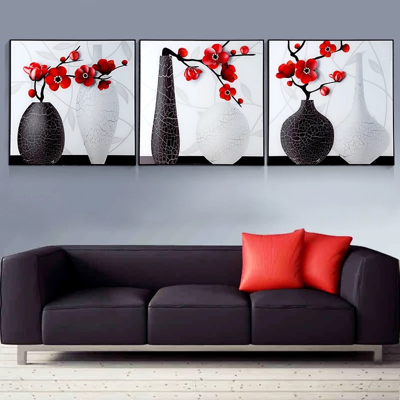 Home Decoration 3pieces DIY 5D Diamond Embroidery Simple Modern Vase Flower Diamond Painting Cross Stitch Kits Resin Hobby CraftHome Decoration 3pieces DIY 5D Diamond Embroidery Simple Modern Vase Flower Diamond Painting Cross Stitch Kits Resin Hobby Craft