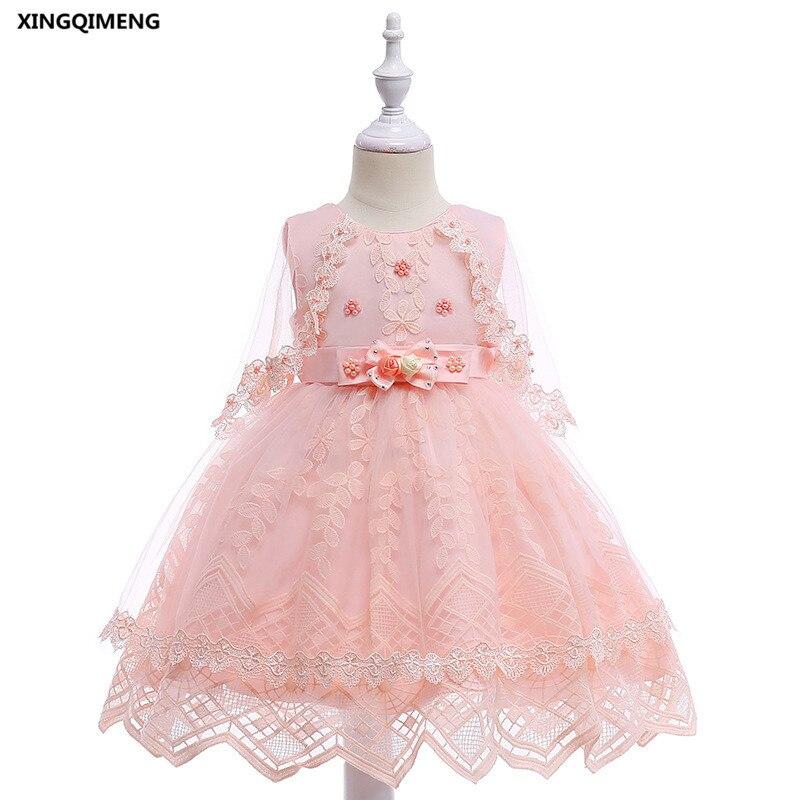 In Stock Fancy Pink Beaded Flower Girl Dresses for Weddings 3-10Y ...
