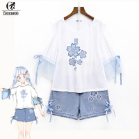 ROLECOS Anime Anohana The Flower We Saw That Day Cosplay Costumes Original Design Meiko Honma Casual