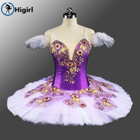 2017 New Arrival Adult Women Velvet Purple Ballet Tutu Classical For Competiton Professional Ballet Costumes BT9136