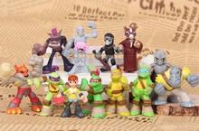 Kids Toys Full Set TMNT Teenage Mutant Ninja Turtles Mini Figures PVC Action Figure Collection Model Toy Home Decor 12pcs/lot
