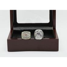 Hermoso Anillo de conjuntos con Cajas De Madera De Cobre de Alta Calidad Réplica de Super Bowl 2 unids/Packs Baltimore Ravens Campeonato personalizada anillo