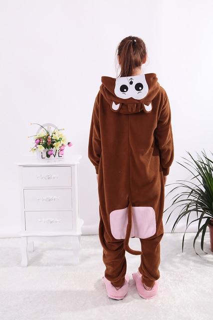 c145bdf8d2 EIGHT UP Monkey Brown Adult Kigurumi Onesie Cosplay Costumes Animal Men  Women Jumpsuit Pajamas Fleece Cartoon