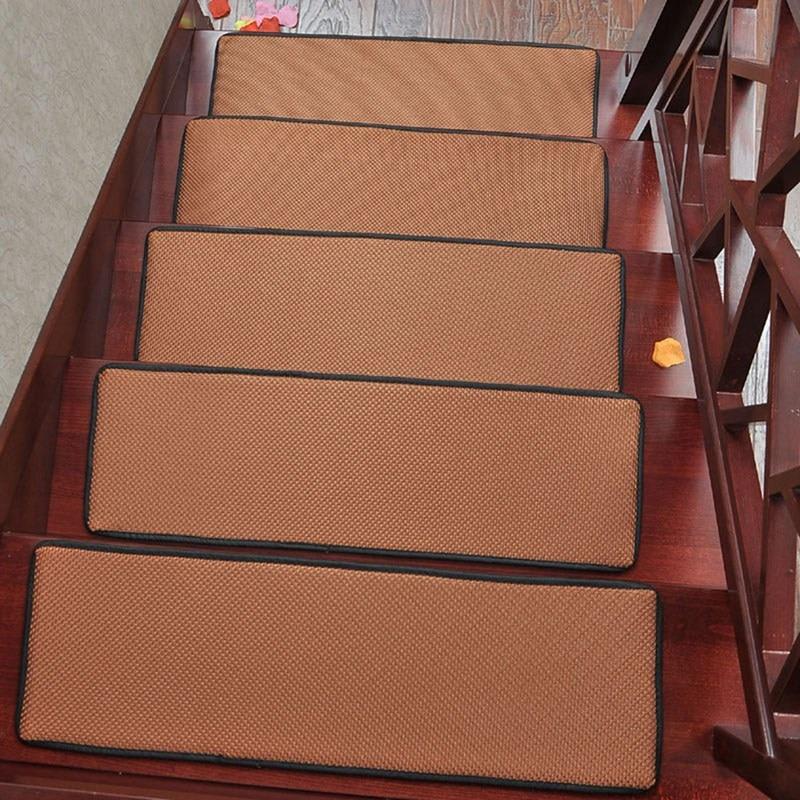 1 Piece Non Slip Stair Case Carpet Tread Mat Soft Step Rugs Mats Pads