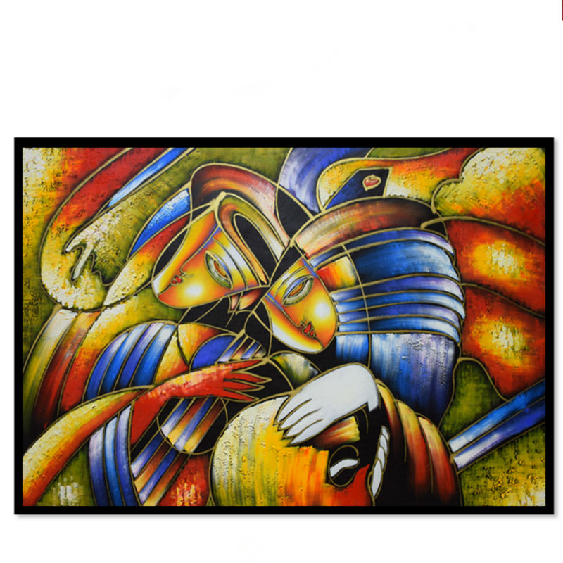 Abstract oil painting hand made copy world famous picasso for Popular painting ideas