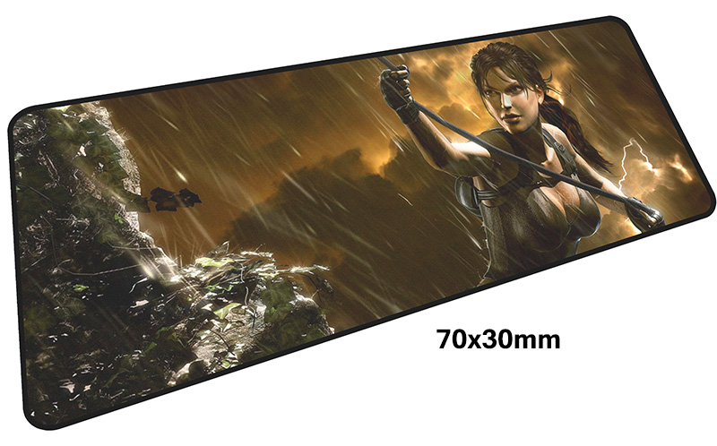 tomb raider pad mouse computador gamer mause pad 700x300X4MM padmouse big High quality mousepad ergonomic gadget office desk mat