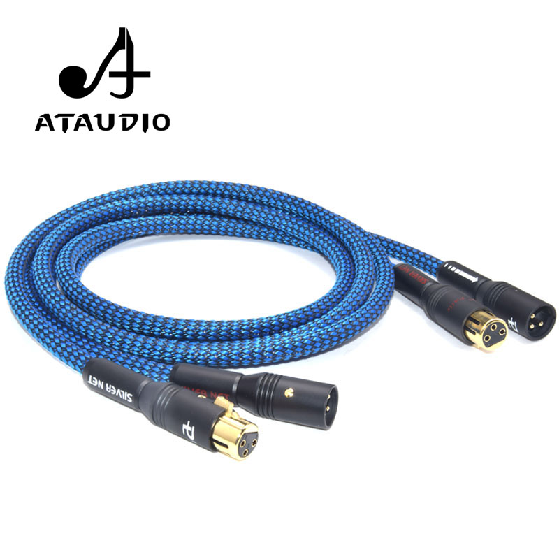 ATAUDIO Hifi Odin 3.5mm to 2 XLR Male Cable High Quality Silver ...