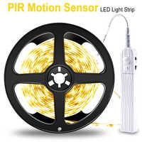 PIR LED Streifen Motion Sensor LED Küche Schrank Licht Band LED Flexible Streifen Licht Wasserdicht Schlafzimmer Nacht Lampe 5 V