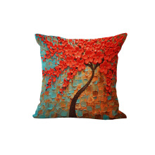 Home Decorative pillow Bed Cushion Throw Pillow case Vintage Decorbox Cotton Linen Square Lovely Tree
