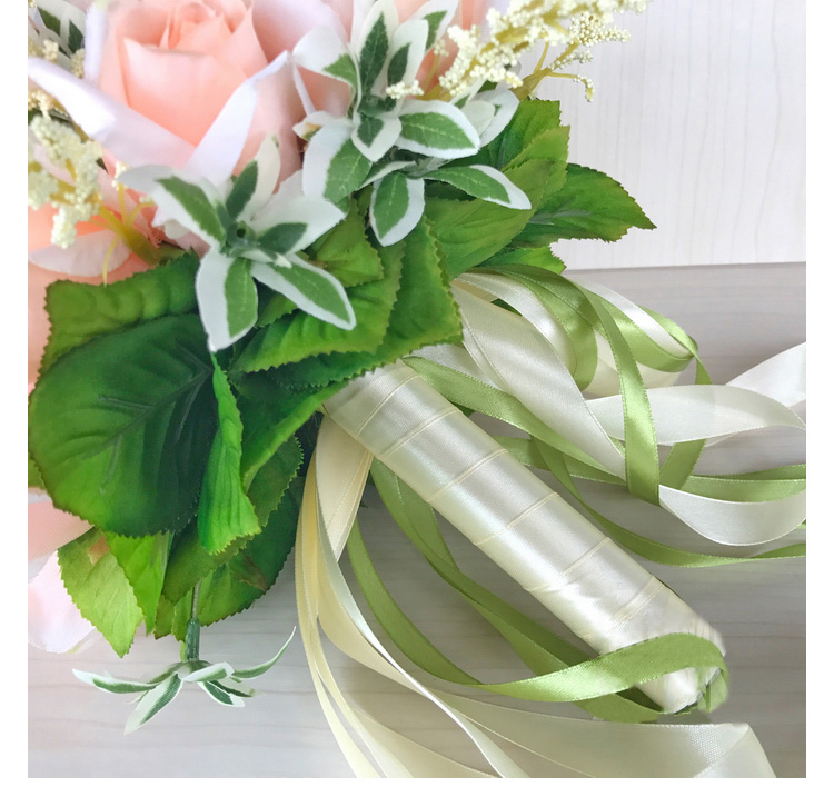 white pink silk flowers bridesmaids bridal Wedding Bouquets rose flowers (13)