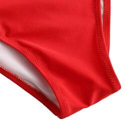 ZAFUL kobiety niski powrót jednoczęściowy strój kąpielowy Stereo kwiat wyściełane jednoczęściowy strój kąpielowy Sexy Low Back pasek stałe SwimmingSuit kostiumy kąpielowe 4