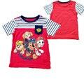 2017 Roupa Do Bebê Meninos T-shirt Verão Dos Desenhos Animados Do Cão T Shirt Tops Tee Crianças Roupas Cães Do Bebê Meninos Camisetas Meninas T Camisa Patrulha