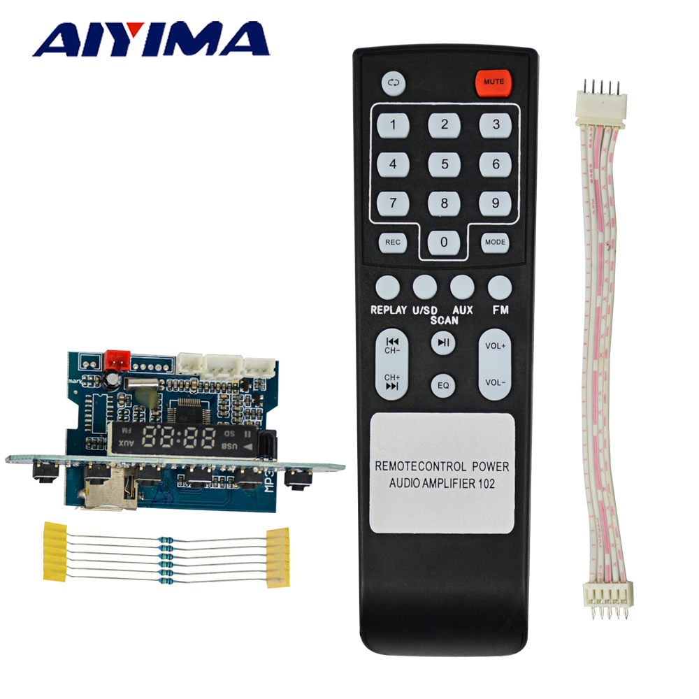 AIYIMA MP3 Player 5V Decoder Audio Board With Screen Display Recording Voice Prompt SD Card TF Card USB MP3 Decoder Board