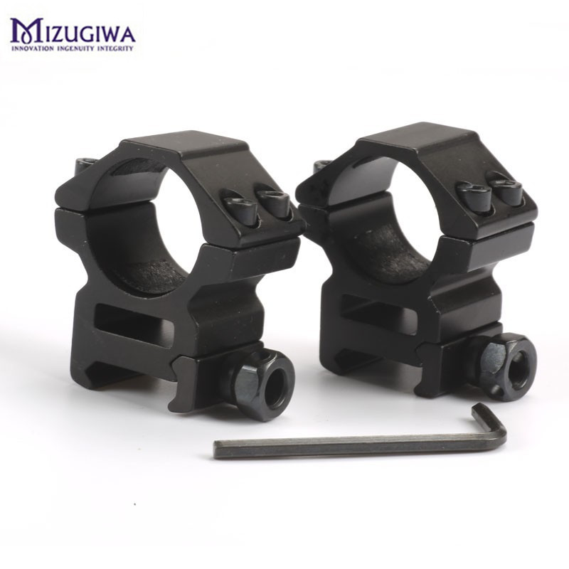 2PCS 25.4mm Rifle Scope Ring Medium Profile Scope Mount 20mm Picatinny Dovetail Scope Rail Mount Hunting Caza image