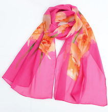 Spring and Autumn Female Scarf Chiffon Towel Hundred-tied scarf long thin gauze fashion decorative small