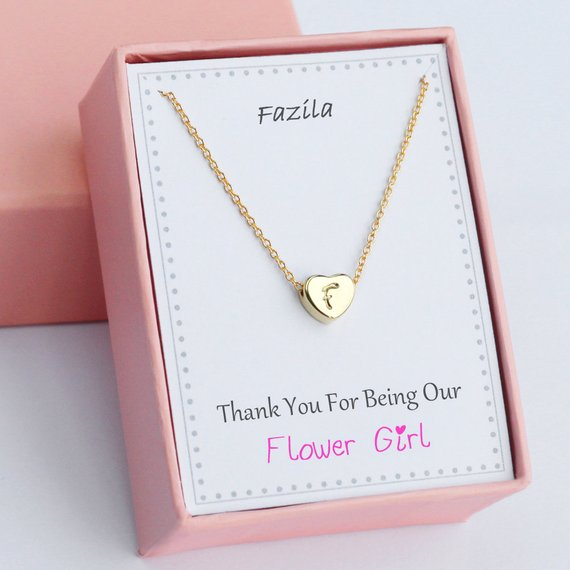Wedding Gift Ideas For Best Friend Girl: Personalized Flower Girl Necklaces, Wedding Maid Of Honor