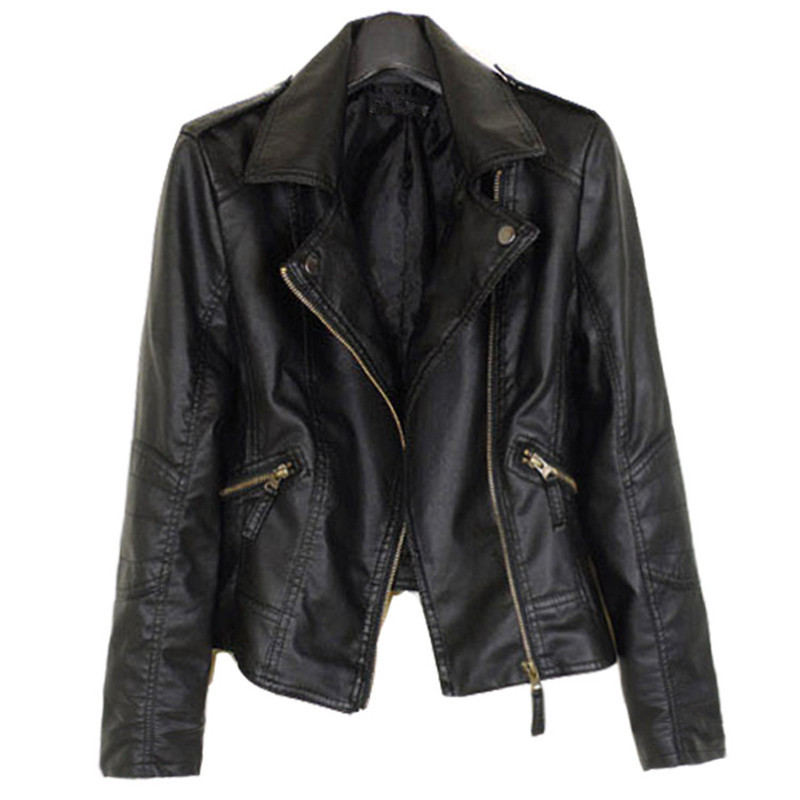 WSYORE Women Biker Jacket 2018 New Plus Size Autumn and Winter Casual Velvet Leather Jacket Coat Women Faux Leather Jacket NS823
