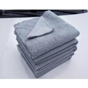 Image 2 - Paño de microfibra sin bordes para pulir, 40x40cm, 380g/m², toalla profesional sin bordes para pulir, pulir y lavar el coche, 1 ud.