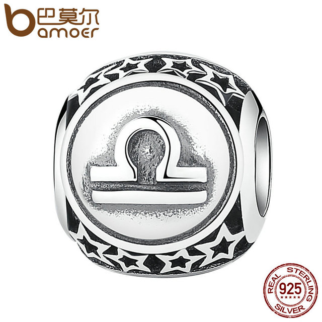 Sterling Silve Aquarius Star Sign Zodiac Beads Charms