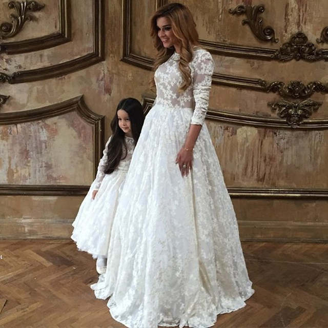 100f2e9d7 Online Shop 2016 Lovely Amazing first communion dresses for girls Mother  And Daughter kids evening gown flower girl dresses for weddings