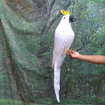 Large 80cm white feathers cockatoo parrot bird model polyethylene&feathers parrot home garden decoration gift s2998 фото