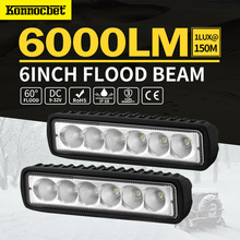 18W 12V LED Work Light Bar Spotlight Flood Lamp Driving Fog Offroad Car for Ford For Toyota SUV 4WD Led Beams