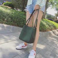 Luxus Kleie Designer Große Eimer Taschen Candy Farbe marke Umhängetaschen Tote Shopper Tasche Schulter Taschen Für Frauen Sac Cuir a1-12