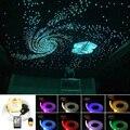 Звук активный 16 Вт мерцание RGBW волоконно-оптический звездное небо потолочный комплект 430 нитей * (0,75 + 1 + 1,5 мм) * 3/4 м музыкальный светодиодный ...