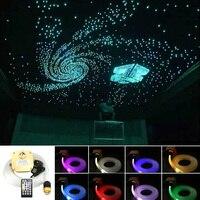 Sound Active 16W Twinkle RGBW Fiber Optic Star Sky Ceiling Kit 430strands *(0.75+1+1.5mm)*3/4M Musical LED Fiber Optic