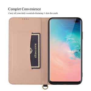 Image 4 - De luxe En Cuir Véritable étui pour samsung Galaxy S10 Plus Note 9 8 Étui w/Support porte carte Souple Boîtier Intérieur Protection Complète