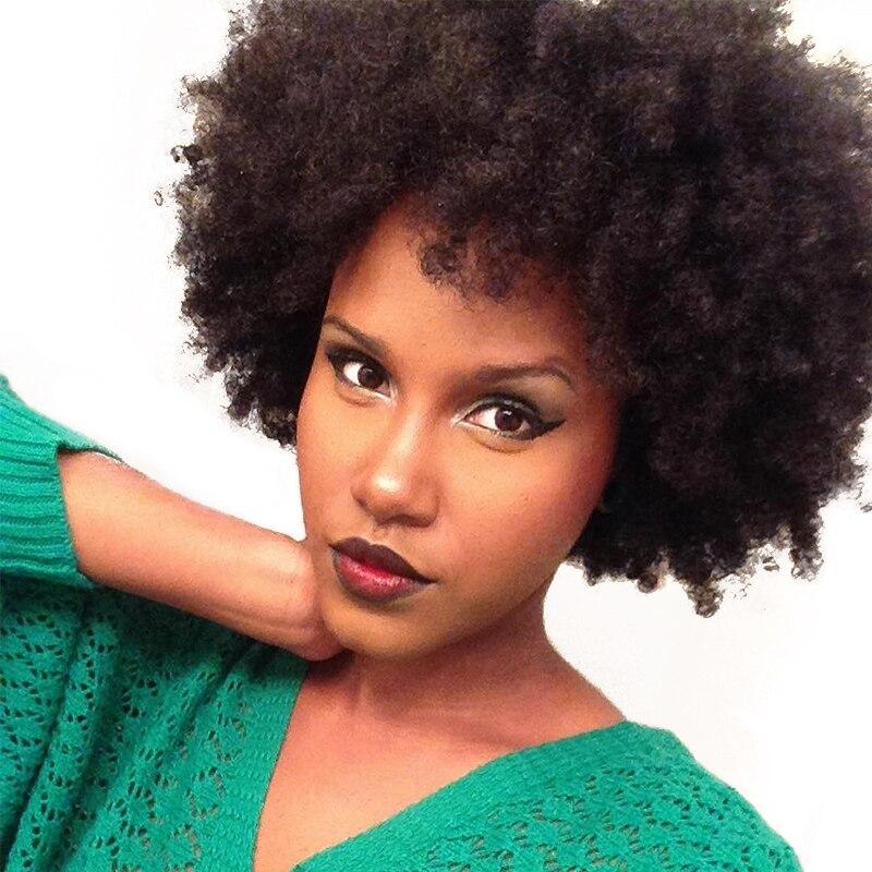 4B 4C Afro Kinky Curly Grampo Em Extensões Do Cabelo Humano Ins Grampo de Cabelo Rosa Rainha Remy Natural Do Cabelo Humano brasileiro Completo cabeça