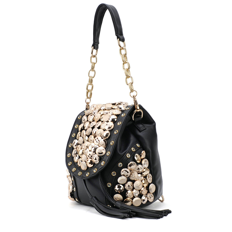BENVICHED Fashion PU leather bolsa 2021 New bucket bags with a small bag crossbody bags for women Button Shoulder Bag