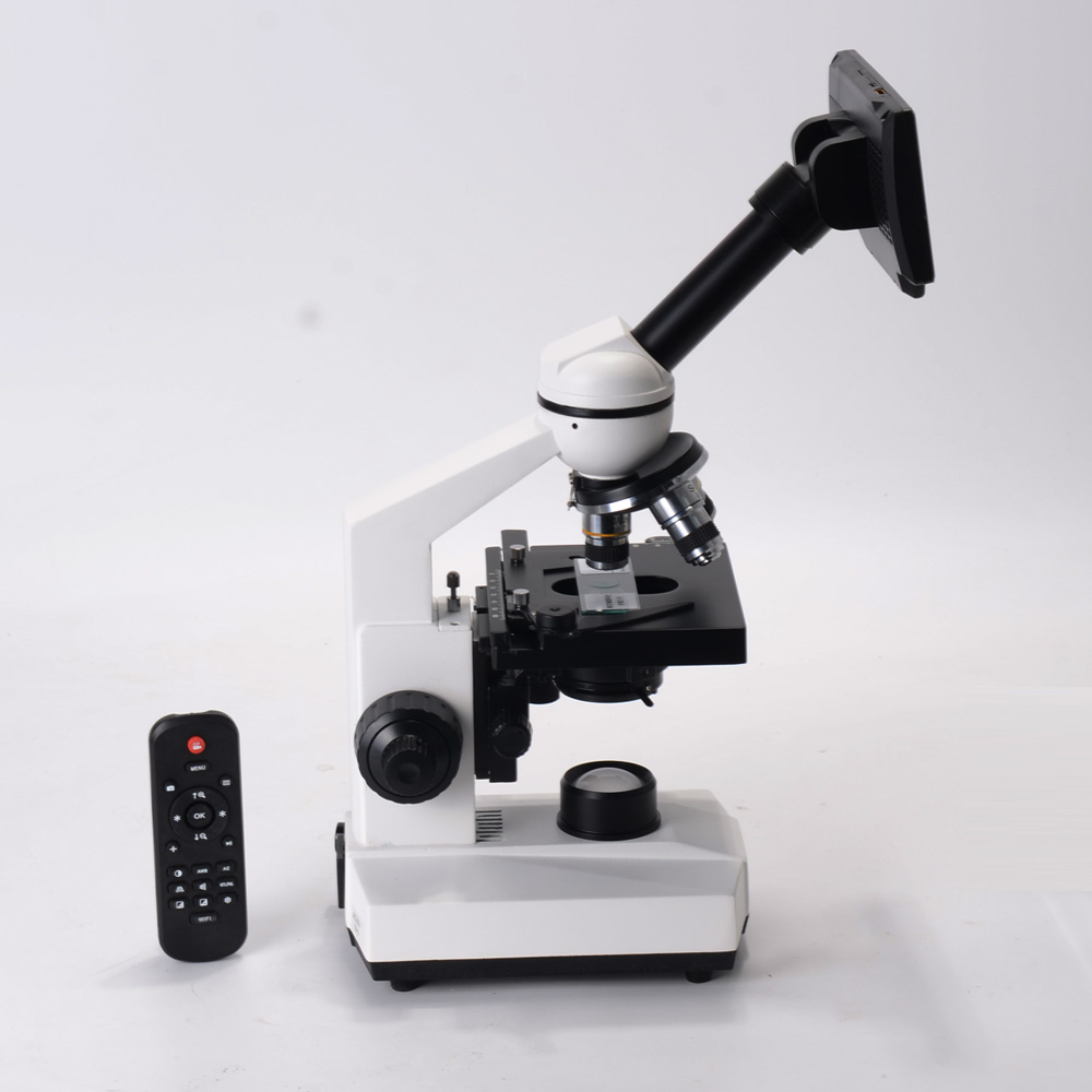 40X-1600X Professional Biological Microscope Kit Double Layer Mechanical XY Stage for Educational Science Lab Light Adjutable