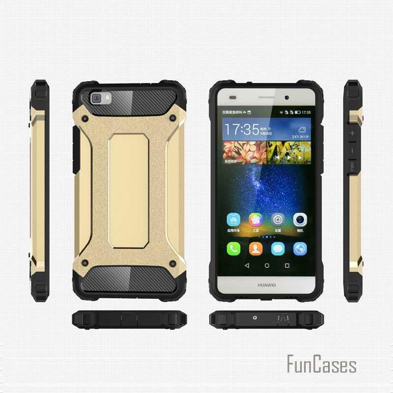 Per huawei p8 lite Anti Bussare Armatura custodia in plastica + TPU hybrid per il caso di Huawei Ascend telefono cvoer P8 slim lite duro duro fundas
