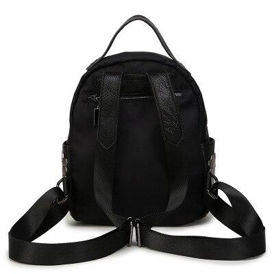 Début de l'été Rivets Surface douce Double sac à bandoulière dames décontracté sac à bandoulière fermeture éclair grande capacité collège vent - 3