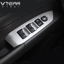 Vtear для Mazda CX-3 CX3 2017-2019 подлокотник на внутреннюю сторону двери окна автомобиля переключатель регулировки Лифт панель отделкой покрытие для интерьера
