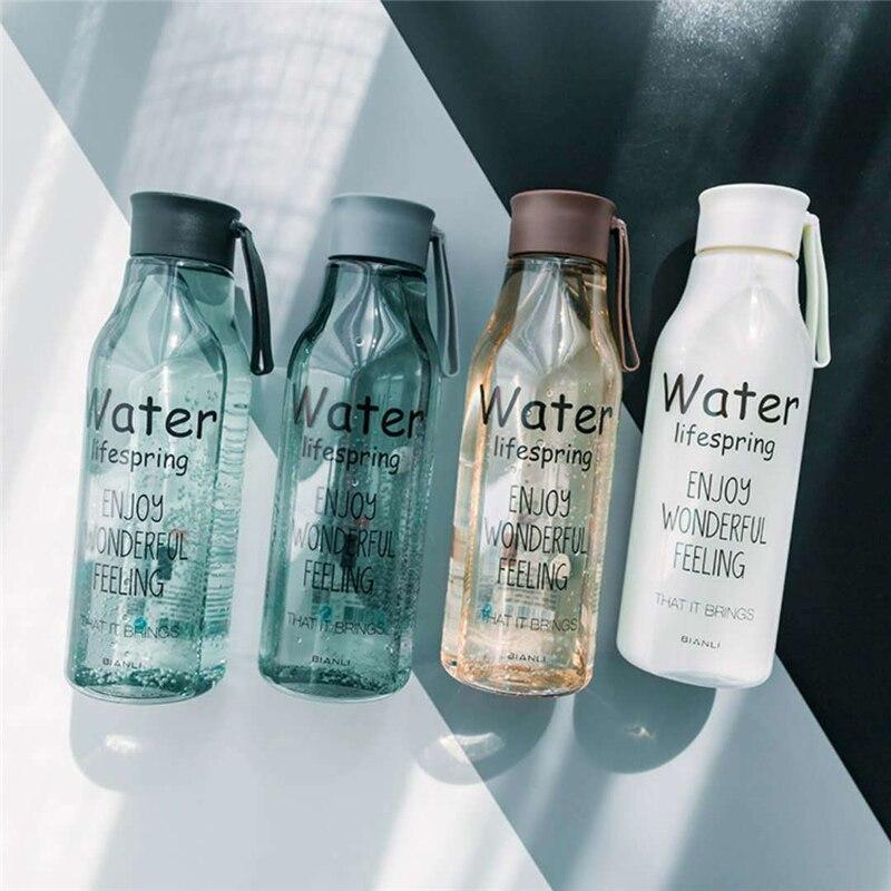 520ml Leakproof Bottle Minimalist Portable Heatproof Explosionproof Food Plastic Juice Student Outdoor Sports Travel Kettle Gift