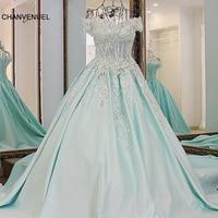 LS82100 vestidos largos de noche appliqued lace off the shoulder puffy princess party evening dress elegant abendkleider lang