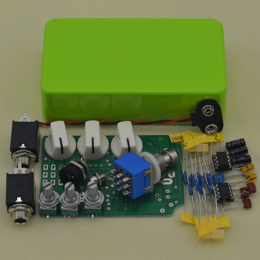 DIY Overdrive Guitar Effect Pedal True Bypass Electric guitar stompbox pedals OD2 Kits GR mooer ensemble queen bass chorus effect pedal mini guitar effects true bypass with free connector and footswitch topper