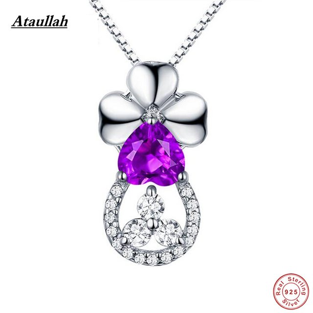 Ataullah Novo Coração Gota de Água Pingentes Colares & Pingentes de Cristal de Prata Esterlina 925 Mulheres Prata 925 Jóias SWN007-1