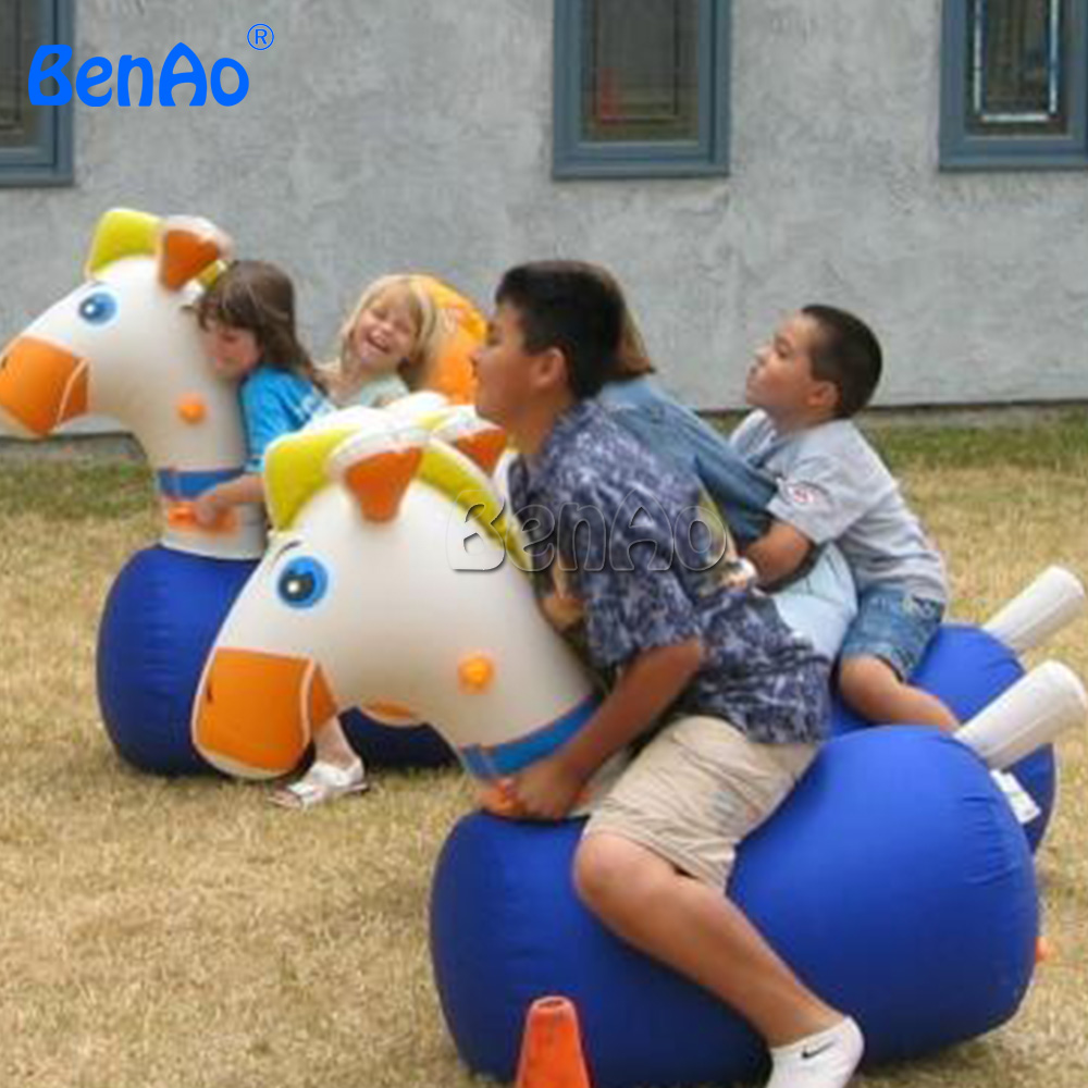 SPH02 BENAO Inflatable air tight pony hop / horse Med Size toys for children 100% Quality Guaranty + Repair Kits 2pcs/lot!!!